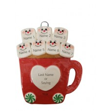 Cup of Love Family of 7 Ornament