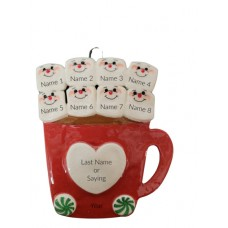 Cup of Love Family of 8 Ornament