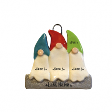 Gnome Family of 3 Ornament