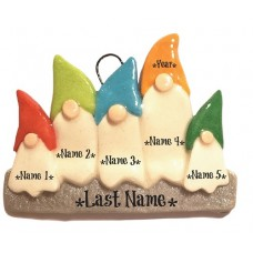 Gnome Family of 5 Ornament
