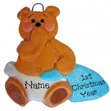 Blue Blanket Bear Ornament