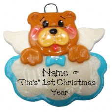 Baby Bear Blue Ornament