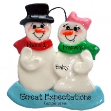 Expecting Snowmen Ornament