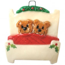 Bears in a Bed Family of 2 Ornament