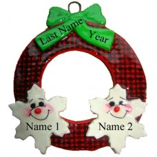 *Buffalo Plaid  Family of 2 Ornament
