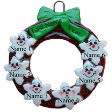 *Buffalo Plaid Family of 6 Ornament