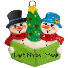 Carolers Family of 2 Ornament