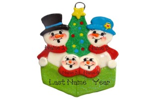 Carolers Family of 4 Ornament