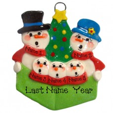 Carolers Family of 5 Ornament