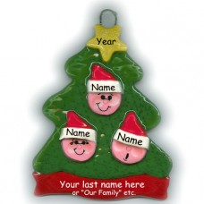 Elf Tree Family of 3 Ornament