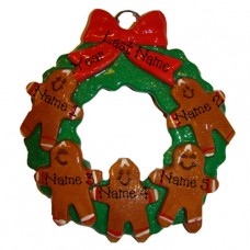 Gingerbread Family of 5 Ornament