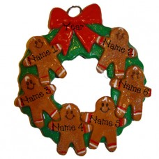 Gingerbread Family of 6 Ornament