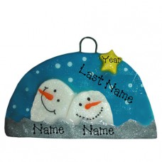 Snow Globe Family of 2 Ornament