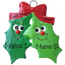 Holly Family of 2 Ornament