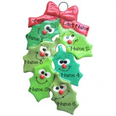 Holly Family of 6 Ornament