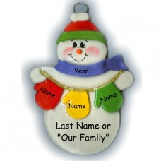 MItten Man Family of 3 Ornament