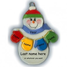 MItten Man Family of 4 Ornament