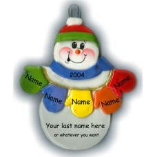 MItten Man Family of 5 Ornament