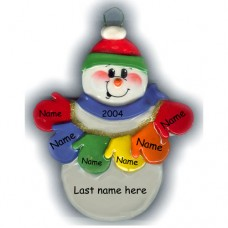 MItten Man Family of 6 Ornament