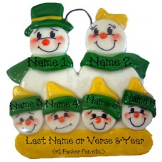 *Snowman Packer Family of 6 Ornament