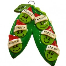 Peas in a Pod Family of 6 Ornament