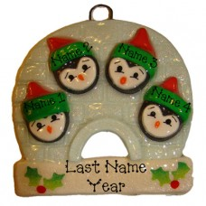 Penguin Family of 4 Ornament