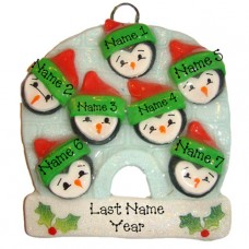 Penguin Family of 7 Ornament