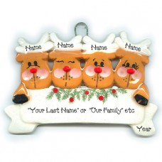 Reindeer Family of 4 Ornament