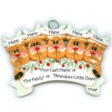 Reindeer Family of 5 Ornament