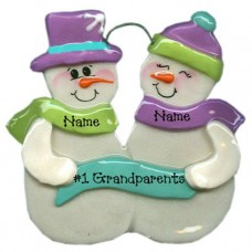 Snowball Family of 2 ornament