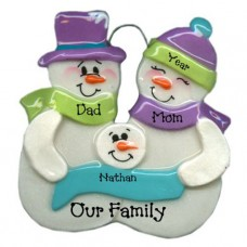 Snowball Family of 3 ornament