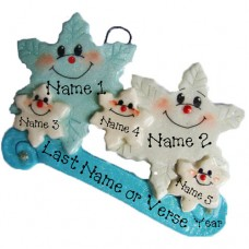 *Snowflake  Family of 5 Ornament