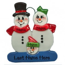 Snowman Family of 3 Ornament
