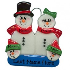Snowman Family of 4 Ornament