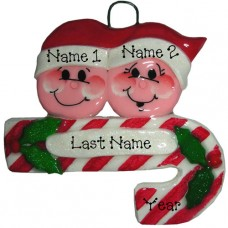 Candy Cane Family of 2 Ornament