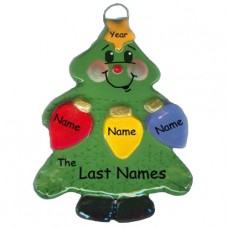 Tree Lights Family of 3 Ornament