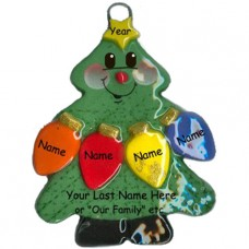 Tree Lights Family of 4 Ornament