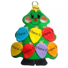 Tree Lights Family of 7 Ornament