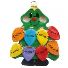 Tree Lights Family of 8 Ornament