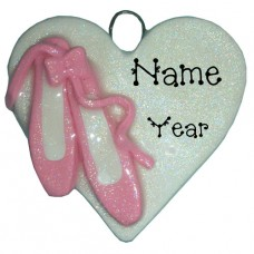 Ballet Heart Ornament
