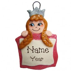Princess Banner with Brown Hair Ornament