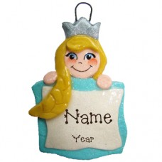 Princess Banner with Blonde Hair Ornament
