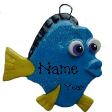 Blue Fish Ornament