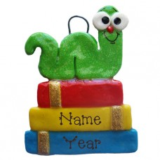 Bookworm Personalized Christmas Ornament