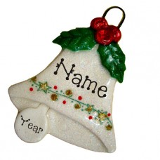 Holly Bell Ornament