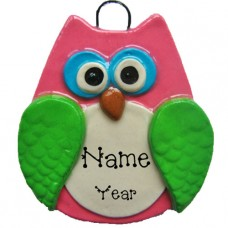 Pink Owl Ornament