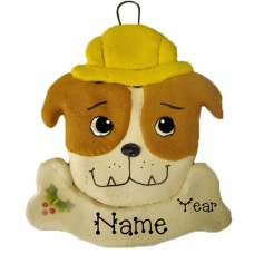 *Construction Dog Ornament