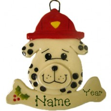 *Firefighter Dog Ornament
