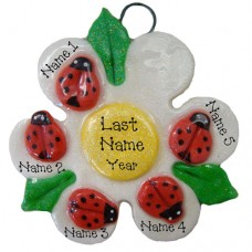 SALE....Ladybug Family of 5