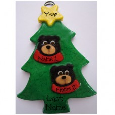 SALE*.....Black Bear in a Tree Family of 2